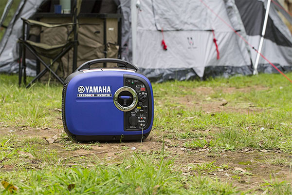 Yamaha generator being used in camping activities