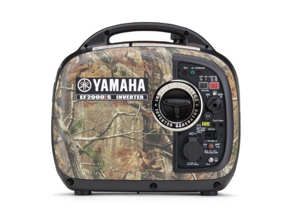 Yamaha EF2000iSC portable inverter generator with camouflage design