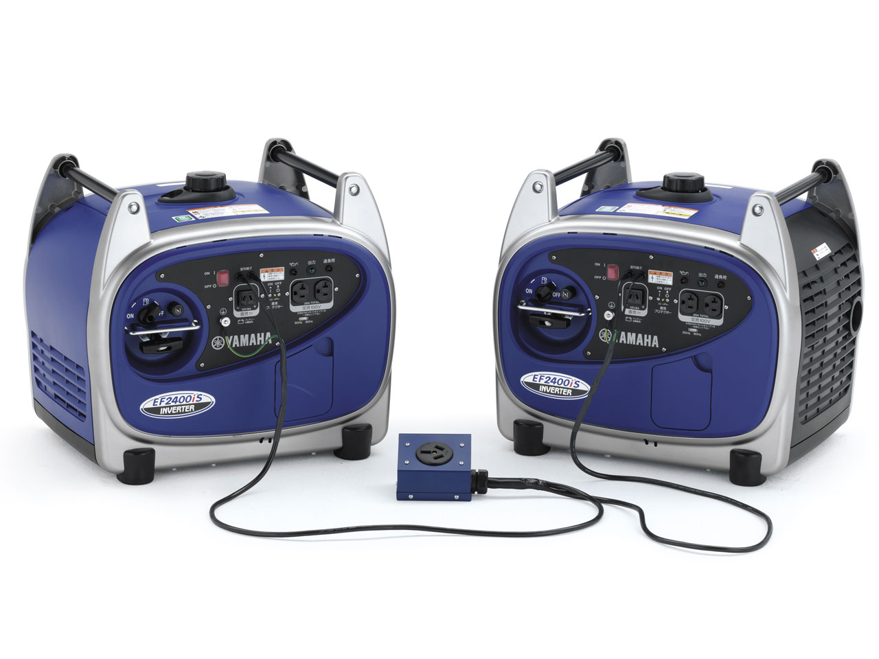 Two EF2400is portable generators connected using Twin Tech