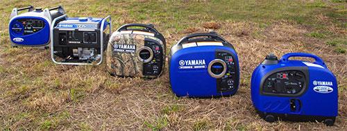 Different models of Yamaha portable generators