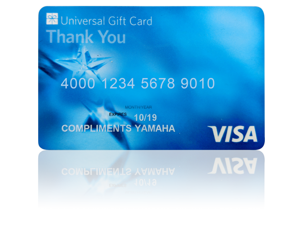 visa gift card from yamaha
